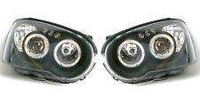 Subaru Impreza 2003-2005 Black Angel Eye Halo Head Light Lamp Pair Left & Right
