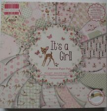 First Edition It's a Girl Paper Pad 48 Sheet Scrapbooking Craft Card Making Pink