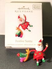 Hallmark Keepsake Miniature Ornament Festive Santa 2010