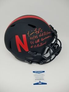 Tommie Frazier Nebraska Eclipse Signed Autographed Full Size Helmet 3 INS