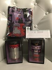 Set Of 2 Starbucks Anna Sui Limited Edition Double Wall Traveler Mugs & Tote Bag