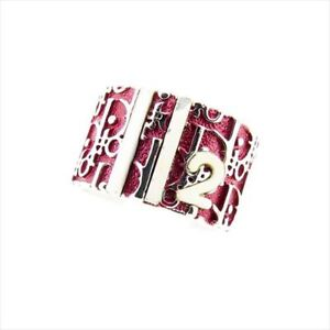 Dior ring Trotter Silver Pink Woman Authentic Used T7009