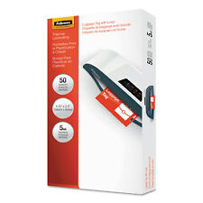 Fellowes Laminating Pouches 5mil 4 1/4 x 2 1/2 Tag Size 50/Pack 52034