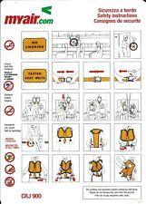 Safety Card - MyAir - CRJ 900 - (Italy) (S4068)