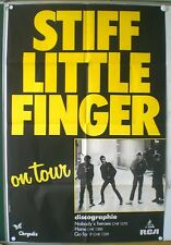 "STIFF LITTLE FINGERS ""ON TOUR "" – AFFICHE ORIGINALE TRES RARE – 1980"