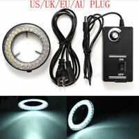 60LED Adjustable Ring Light Illuminator Lamp For STEREO ZOOM Microscope US/EU/UK