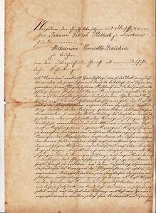 Solitaire Wedding Document Gasthofbesitzer Fleischermeister 1835 Osterfeld