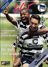 BL 98/99 Hertha BSC - Werder Bremen, 16.08.1998 - Poster Dariusz Wosz