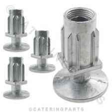 4 x Piedini Regolabili/a Pedale Inserti per 30mm Acciaio Tubo Quadrato Tavole