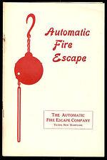AUTOMATIC FIRE ESCAPE Tilton New Hampshire ADVERTISING SALES BOOKLET circa 1910