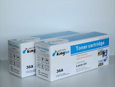 2pk Compatible Black Toners for HP 36A CB436A fit HP LASERJET M1522nf P1505n