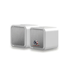 iLuv Sound Cubes Usb Powered Silver Stereo Speakers for Laptops (iSp160Silv2)