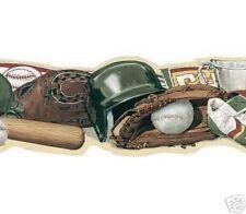 Baseball Laser Cut Sports Wallpaper Border TA39031DB
