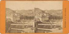 Lourdes Vue générale Basilique Photo Viron Stereo Vintage Albumine ca 1880