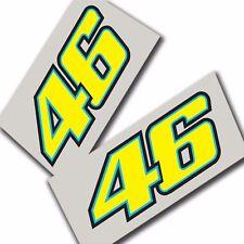 Rossi `46 `Nuevo estilo pegatinas Motocicleta calcomanías gráficos Personalizados X 2