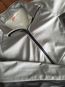 Men's Marker Jacket Full Zip Size Large Two Front Pockets Gray