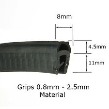 Pequeño Negro con aletas Bota de Goma Sello Recortar 15.5 Mm x 8 mm por la casa de Metal