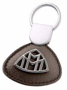 Genuine Mercedes Benz Maybach Nappa Leather Key Ring Keyring Chain - Brown