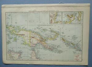 """1895 The Times Full Colour Map New Guinea and the Papuan Archipelago 16"""" x 11"""""""