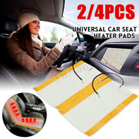 2Pcs 12V Universal Carbon Fiber Auto Car Seat Heating Heated Pad Heater  J