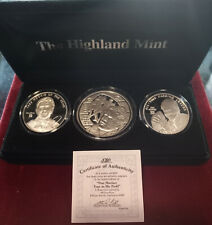 DAN MARINO 3½ Oz .999 Silver 3 Coin Limited Edition Matched # HIGHLAND MINT Set
