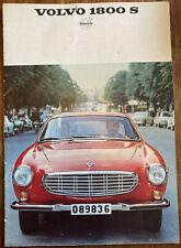 Very Rare Vintage 1968 Volvo 1800S Car Sales Promotional Brochure Booklet