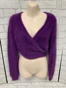 Wild Honey New Look Purple Eyelash Wrap Around Sweater Cardigan BNWT RRP £37.00