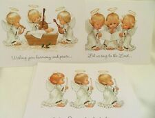 Christmas Cards Current Ruth or Bill Morehead 3 Angel Designs 15 UNUSED w/ Env