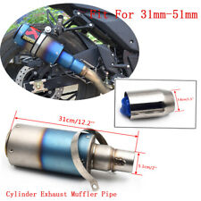 51mm Universal Stainless Motorcycle Exhaust Pipe Muffler Tail Slip On