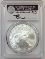 2014 $1 1 oz Silver Eagle MS70 PCGS Gary Whitley label *POP 25*