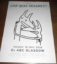 Car Seat Headrest - live music show May 2018 promotional tour concert gig poster