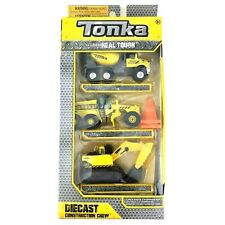 Tonka Real Tough Die Cast Construction Crew 3PK Mixer~Grader~Excavator 56087