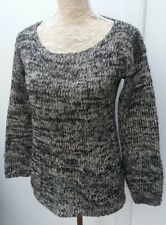 Atmosphere Ladies Size 10 Black White Marl Knit Jumper Spring Wear Fashion Sweat