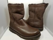 sz 11/ 45 NEW UGG MEN'S WRANGELL 5790 BROWN LEATHER/ SUEDE BOOTS WATERPROOF