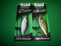 "Cordell Rattle Spot Rattle Trap - Glitter Shad & Bass 2.5"" (2 Pk) Fishing Lure"