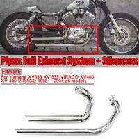 For Yamaha Virago XV 535 XV 400 1988-2004 Muffler Exhaust System Pipes Silencers