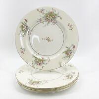 "Theodore Haviland New York Apple Blossom 4 Dinner Plates 10 3/4"" Made America"