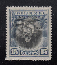 Liberia # 119a MINT Inverted Center Cotton Spinning 1909 Issue