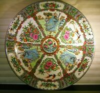 """LARGE Chinese Famille Rose Porcelain Charger Bowl 20th C 14"""""""