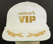 Cat Caterpillar VIP Diesel Power Gold Metallic White Baseball Hat Cap Adjustable