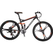 """27.5"""" Full Suspension Mountain Bike Shimano 21 Speed Mens Bicycle Disc Brakes"""