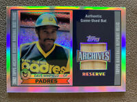 2002 Topps Archives Reserve DAVE WINFIELD Game Used Bat - San Diego Padres