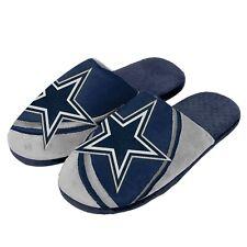 Пара Dallas Cowboys большой логотип тональной слайд тапочки скольжения на дом туфли новые