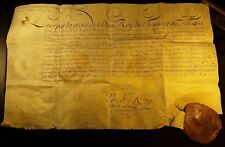 """KING LOUIS XV AUTOGRAPH DOCUMENT """"Signed by his hand"""" with LARGE WAX SEAL - 1769"""