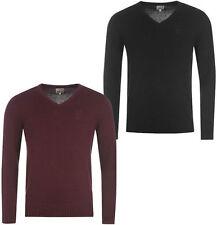 Herren-Pullover aus Baumwolle mit V-Ausschnitt und regular Länge