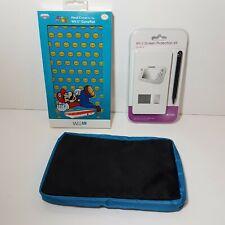 3x Accessory For Wii U Gamepad Controller=Super Mario hardcover+Screen protector