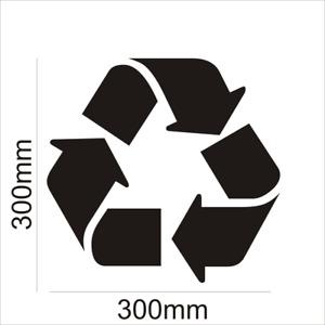 Recycle recycling logo symbol vinyl wheelie bin decal stickers 30cm Large