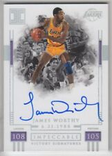 2018-19 Panini Impeccable James Worthy Victory Signatures Silver Auto 27/49