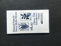 1997 Booklet of 15 32-cent Botanical Prints Self-adhesive stamps Sc# BK261