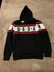 Jordan Air Gradient Pullover Hoodie Men's Medium M BQ5651-010 Gym Red/Black New